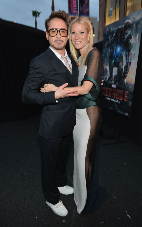 "<div class=""meta image-caption""><div class=""origin-logo origin-image ""><span></span></div><span class=""caption-text"">Actors Robert Downey Jr. and Gwyneth Paltrow attend Marvel's 'Iron Man 3' Premiere at the El Capitan Theatre in Hollywood on April 24, 2013.  (Alberto E. Rodriguez / WireImage / Walt Disney Studios)</span></div>"
