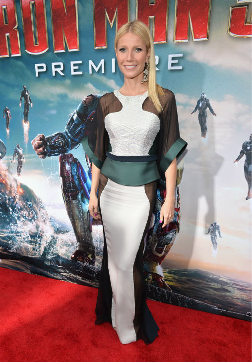 Actress Gwyneth Paltrow attends Marvel's 'Iron Man 3' Premiere at the El Capitan Theatre in Hollywood on April 24, 2013.