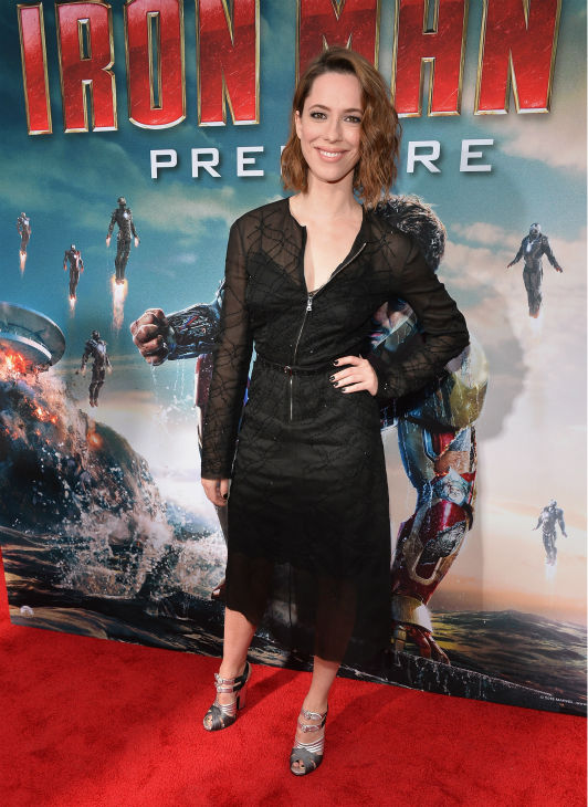 Actress Rebecca Hall attends Marvel's 'Iron Man 3' Premiere at the El Capitan Theatre in Hollywood on April 24, 2013.