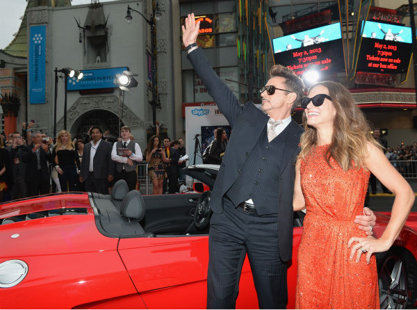 Actor Robert Downey Jr. and wife Susan Downey attend Marvel&#39;s &#39;Iron Man 3&#39; Premiere at the El Capitan Theatre in Hollywood on April 24, 2013. <span class=meta>(Alberto E. Rodriguez &#47; WireImage &#47; Walt Disney Studios)</span>