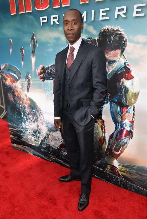 Actor Don Cheadle attends Marvel's 'Iron Man 3' Premiere at the El Capitan Theatre in Hollywood on April 24, 2013.
