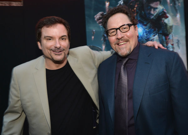 Writer/director Shane Black and actor/producer Jon Favreau attend Marvel's 'Iron Man 3' Premiere at the El Capitan Theatre in Hollywood on April 24, 2013.