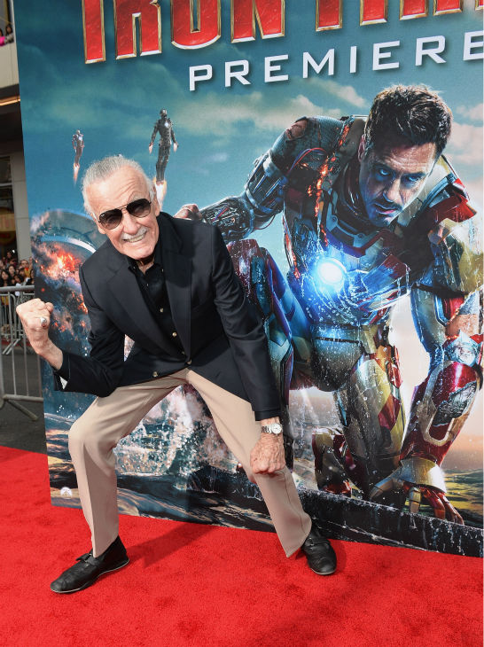 Writer/executive producer and 'Iron Man' creator Stan Lee attends Marvel's 'Iron Man 3' Premiere at the El Capitan Theatre in Hollywood on April 24, 2013.
