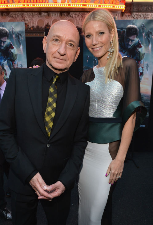 Actors Ben Kingsley and Gwyneth Paltrow attend Marvel&#39;s &#39;Iron Man 3&#39; Premiere at the El Capitan Theatre in Hollywood on April 24, 2013. <span class=meta>(Alberto E. Rodriguez &#47; WireImage &#47; Walt Disney Studios)</span>