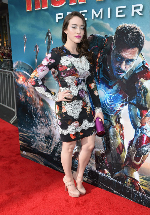 Actress Kat Dennings attends Marvel's 'Iron Man 3' Premiere at the El Capitan Theatre in Hollywood on April 24, 2013.
