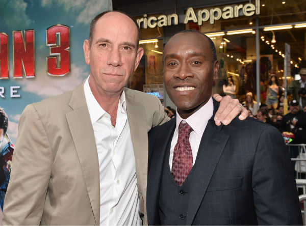 Actors Miguel Ferrer and Don Cheadle attend Marvel's 'Iron Man 3' Premiere at the El Capitan Theatre in Hollywood on April 24, 2013.
