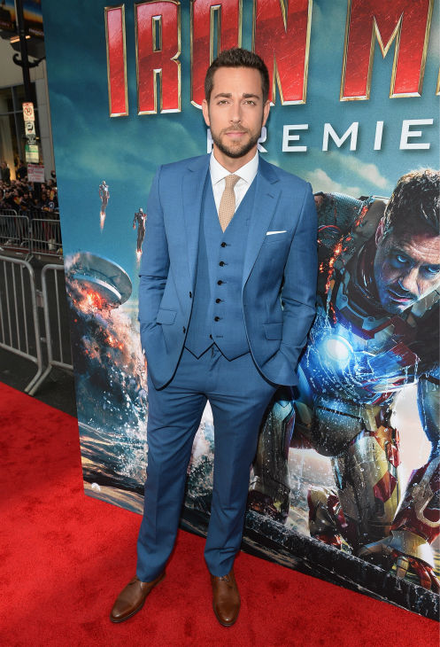 Actor Zachary Levi attends Marvel's 'Iron Man 3' Premiere at the El Capitan Theatre in Hollywood on April 24, 2013.