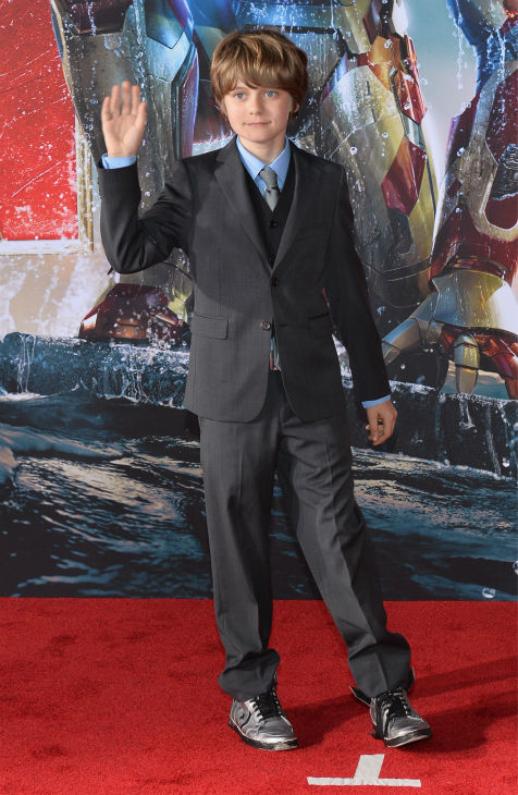 Actor Ty Simpkins attends Marvel's 'Iron Man 3' Premiere at the El Capitan Theatre in Hollywood on April 24, 2013.