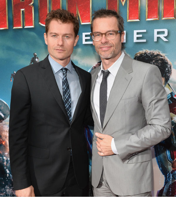 Actors James Badge Dale and Guy Pearce attend Marvel's 'Iron Man 3' Premiere at the El Capitan Theatre in Hollywood on April 24, 2013.