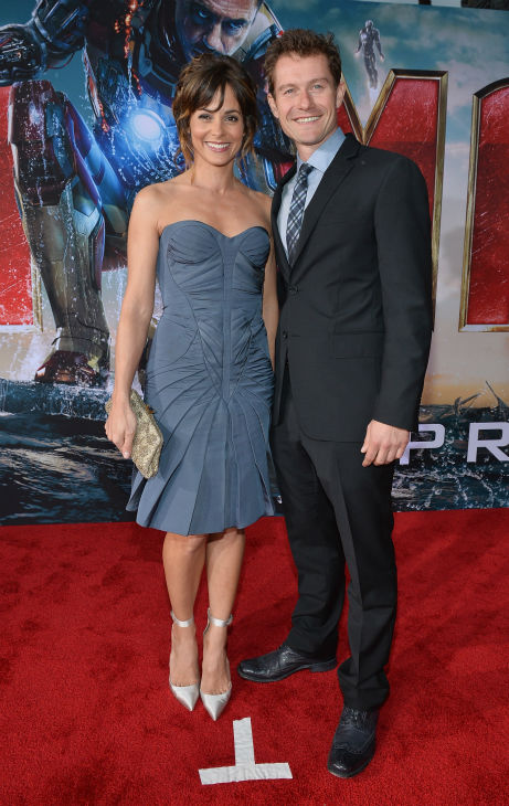 Actors Stephanie Szostak and James Badge Dale attend Marvel's 'Iron Man 3' Premiere at the El Capitan Theatre in Hollywood on April 24, 2013.
