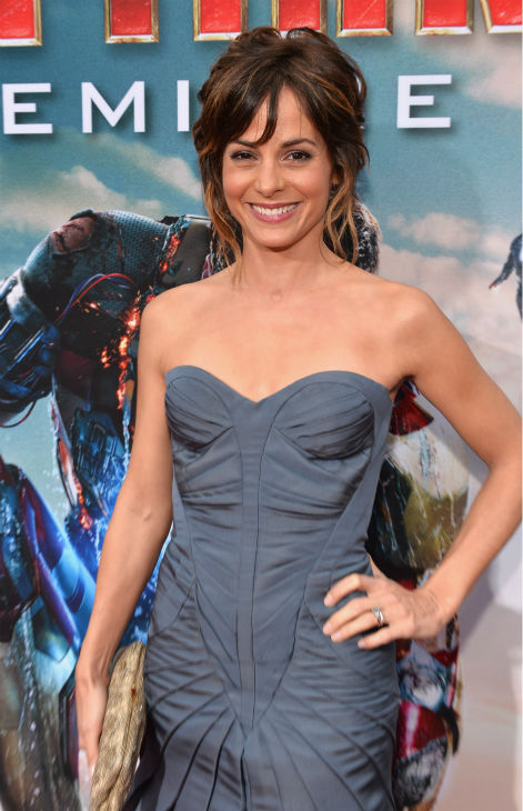 Actress Stephanie Szostak attends Marvel's 'Iron Man 3' Premiere at the El Capitan Theatre in Hollywood on April 24, 2013.