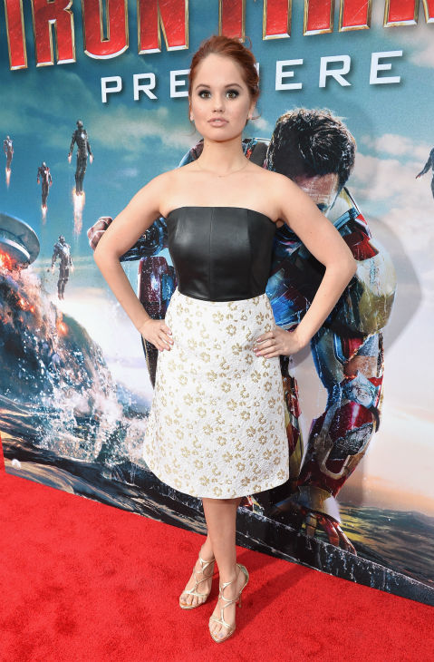 Actress Debby Ryan attends Marvel's 'Iron Man 3' Premiere at the El Capitan Theatre in Hollywood on April 24, 2013.
