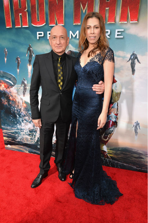 Actor Ben Kingsley and wife Daniela Lavender attend Marvel's 'Iron Man 3' Premiere at the El Capitan Theatre in Hollywood on April 24, 2013.