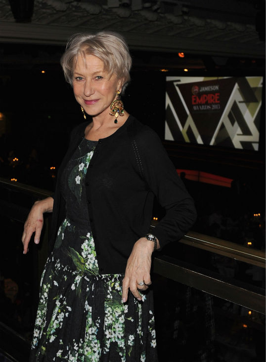Dame Helen Mirren relaxes before the Jameson Empire Awards at Grosvenor House on March 24, 2013 in London, England.  <span class=meta>(Jameson via Getty Images &#47; Eamonn M. McCormack)</span>