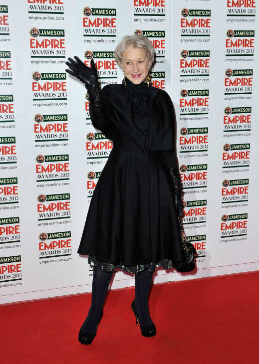 "<div class=""meta ""><span class=""caption-text "">Dame Helen Mirren arrives at the Jameson Empire Awards at Grosvenor House on March 24, 2013 in London, England. Renowned for being one of the most laid-back awards shows in the British movie calendar, the Jameson Empire Awards are chosen by readers of Empire Magazine, who vote for their favorites. (Jameson via Getty Images)</span></div>"