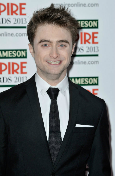 Daniel Radcliffe arrives at the Jameson Empire Awards at Grosvenor House on March 24, 2013 in London, England. Renowned for being one of the most laid-back awards shows in the British movie calendar, the Jameson Empire Awards are chosen by readers of Empire Magazine, who vote for their favorites. <span class=meta>(Jameson via Getty Images)</span>