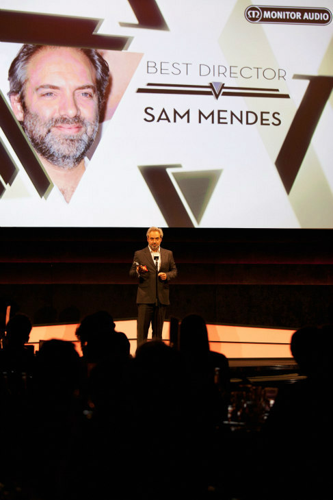 Director Sam Mendes wins the Best Director award for &#39;Skyfall&#39; at the Jameson Empire Awards at Grosvenor House on March 24, 2013 in London, England. Renowned for being one of the most laid-back awards shows in the British movie calendar, the Jameson Empire Awards are chosen by readers of Empire Magazine, who vote for their favorites. <span class=meta>(Jameson via Getty Images)</span>