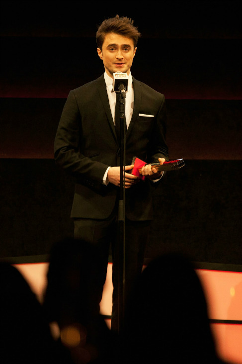 "<div class=""meta ""><span class=""caption-text "">Daniel Radcliffe wins the Empire Hero award at the Jameson Empire Awards at Grosvenor House on March 24, 2013 in London, England. Renowned for being one of the most laid-back awards shows in the British movie calendar, the Jameson Empire Awards are chosen by readers of Empire Magazine, who vote for their favorites. (Photo/Jameson via Getty Images)</span></div>"