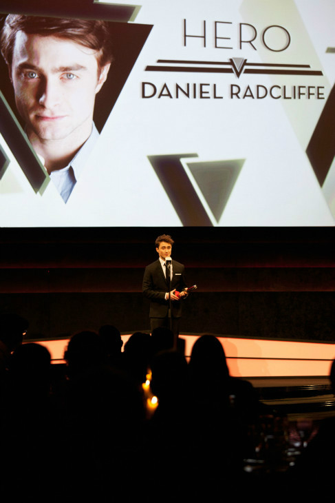 Daniel Radcliffe wins the Empire Hero award at the Jameson Empire Awards at Grosvenor House on March 24, 2013 in London, England. Renowned for being one of the most laid-back awards shows in the British movie calendar, the Jameson Empire Awards are chosen by readers of Empire Magazine, who vote for their favorites. <span class=meta>(Jameson via Getty Images)</span>