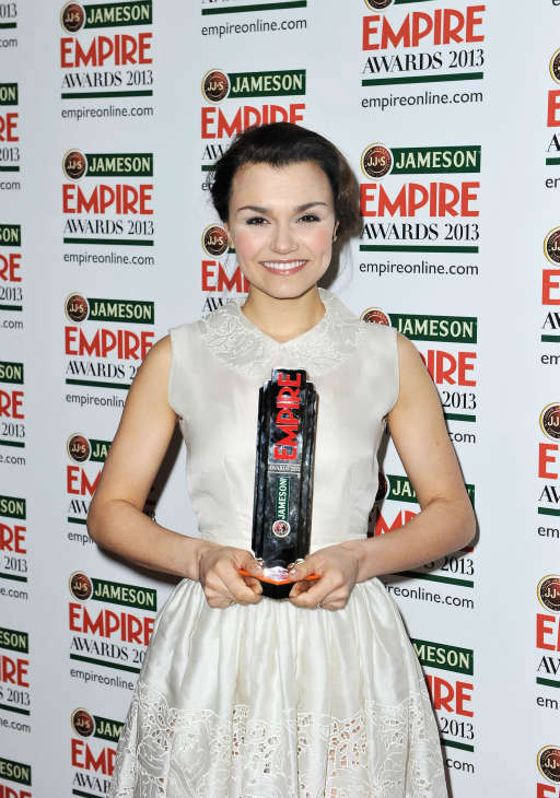 Actress Samantha Barks poses with the Best Female Newcomer award at the Jameson Empire Awards at Grosvenor House on March 24, 2013 in London, England. Renowned for being one of the most laid-back awards shows in the British movie calendar, the Jameson Empire Awards are chosen by readers of Empire Magazine, who vote for their favorites. <span class=meta>(Jameson via Getty Images)</span>