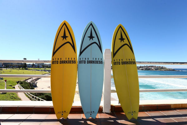 &#39;Star Trek Into Darkness&#39; special editon surfboards at Bondi Beach at the film&#39;s hoto call on April 22, 2013 in Sydney, Australia. <span class=meta>(Marianna Massey &#47; Getty Images for Paramount Pictures International)</span>