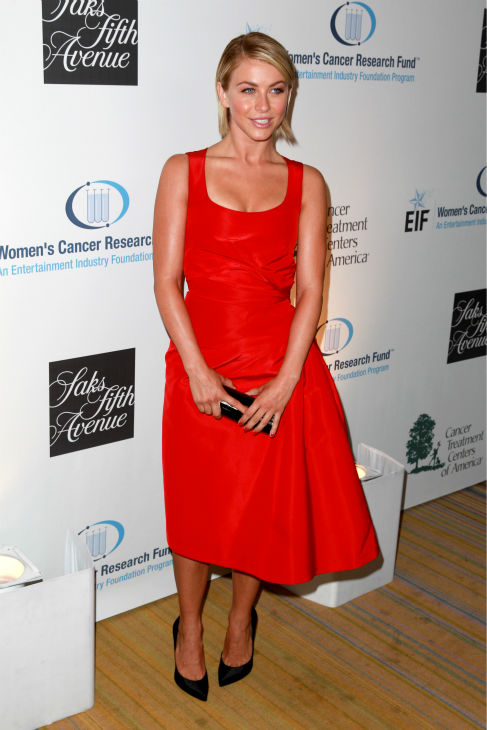 "<div class=""meta ""><span class=""caption-text "">Julianne Hough, wearing a red Carolina Herrera dress, appears at the EIF Womens Cancer Research Fund's 16th Annual 'An Unforgettable Evening' event, presented by Saks Fifth Avenue, at the Beverly Wilshire Four Seasons Hotel on May 2, 2013 in Beverly Hills, California. (Joe Scarnici / Getty Images for EIF)</span></div>"