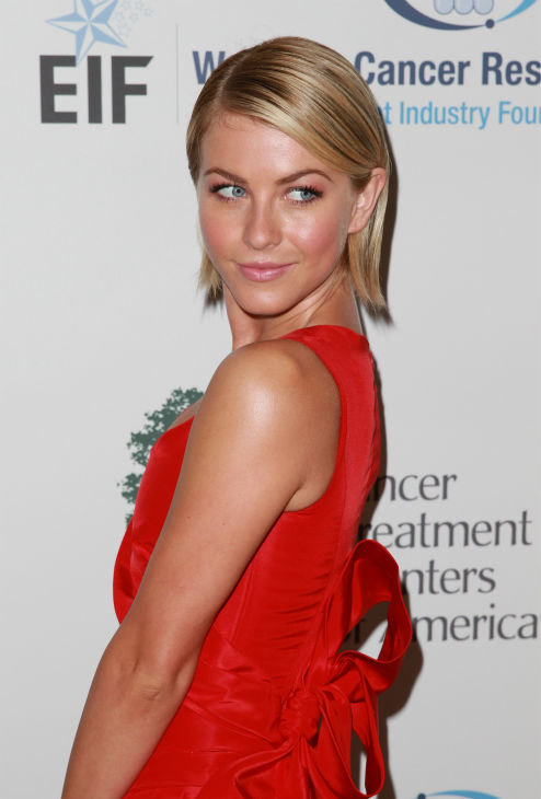 Julianne Hough, wearing a red Carolina Herrera dress, appears at the EIF Womens Cancer Research Fund&#39;s 16th Annual &#39;An Unforgettable Evening&#39; event, presented by Saks Fifth Avenue, at the Beverly Wilshire Four Seasons Hotel on May 2, 2013 in Beverly Hills, California. <span class=meta>(Joe Scarnici &#47; Getty Images for EIF)</span>