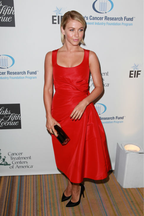 "<div class=""meta image-caption""><div class=""origin-logo origin-image ""><span></span></div><span class=""caption-text"">Julianne Hough, wearing a red Carolina Herrera dress, appears at the EIF Womens Cancer Research Fund's 16th Annual 'An Unforgettable Evening' event, presented by Saks Fifth Avenue, at the Beverly Wilshire Four Seasons Hotel on May 2, 2013 in Beverly Hills, California. (Joe Scarnici / Getty Images for EIF)</span></div>"