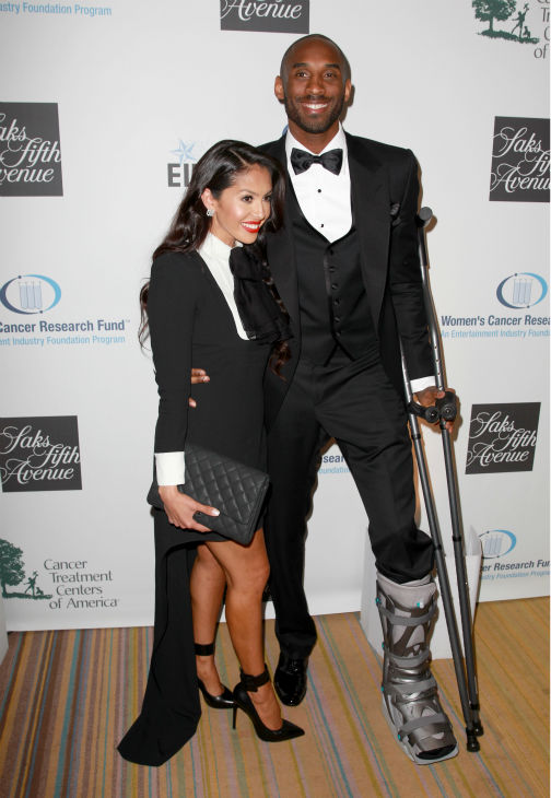 NBA player Kobe Bryant &#40;R&#41; and Vanessa Bryant appear at the EIF Womens Cancer Research Fund&#39;s 16th Annual &#39;An Unforgettable Evening&#39; event, presented by Saks Fifth Avenue, at the Beverly Wilshire Four Seasons Hotel on May 2, 2013 in Beverly Hills, California. <span class=meta>(Joe Scarnici &#47; Getty Images for EIF)</span>