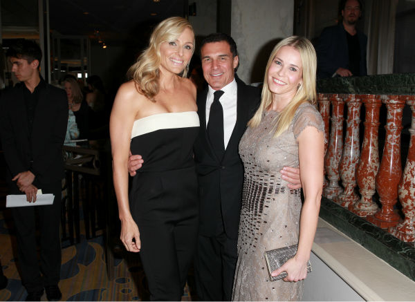 EIF Womens Cancer Research Fund Co-Founder Jamie Tisch, host Chelsea Handler &#40;wearing Carolina Herrera&#41;, and Andre Balazs appear at the EIF Womens Cancer Research Fund&#39;s 16th Annual &#39;An Unforgettable Evening&#39; event, presented by Saks Fifth Avenue, at the Beverly Wilshire Four Seasons Hotel on May 2, 2013 in Beverly Hills, California. <span class=meta>(Joe Scarnici &#47; Getty Images for EIF)</span>