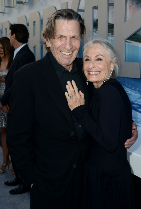 Leonard Nimoy, 82, &#40;original Spock&#41; and wife Susan Bay attend the premiere of Paramount Pictures&#39; &#39;Star Trek Into Darkness&#39; at the Dolby Theatre in Hollywood, California on May 14, 2013.  <span class=meta>(Kevin Winter &#47; Getty Images for Paramount Pictures)</span>