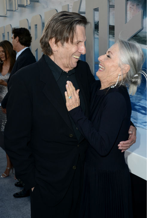 "<div class=""meta ""><span class=""caption-text "">Leonard Nimoy, 82, (original Spock) and wife Susan Bay attend the premiere of Paramount Pictures' 'Star Trek Into Darkness' at the Dolby Theatre in Hollywood, California on May 14, 2013.  (Kevin Winter / Getty Images for Paramount Pictures)</span></div>"