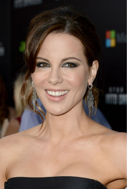 "<div class=""meta image-caption""><div class=""origin-logo origin-image ""><span></span></div><span class=""caption-text"">Kate Beckinsale (celebrity guest) attends the premiere of Paramount Pictures' 'Star Trek Into Darkness' at the Dolby Theatre in Hollywood, California on May 14, 2013. She wearing a black, strapless, asymmetrical Alberta Ferretti Pre-Fall 2013 dress and black and yellow Jimmy Choo sandals. (Kevin Winter / Getty Images for Paramount Pictures)</span></div>"