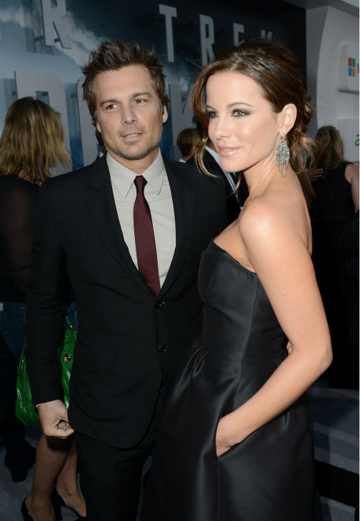 Kate Beckinsale &#40;celebrity guest&#41; and husband Len Wiseman attend the premiere of Paramount Pictures&#39; &#39;Star Trek Into Darkness&#39; at the Dolby Theatre in Hollywood, California on May 14, 2013.  <span class=meta>(Kevin Winter &#47; Getty Images for Paramount Pictures)</span>