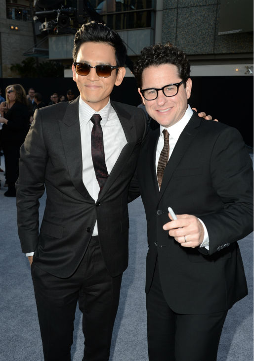 Director J.J. Abrams and John Cho &#40;Sulu&#41; attend the premiere of Paramount Pictures&#39; &#39;Star Trek Into Darkness&#39; at the Dolby Theatre in Hollywood, California on May 14, 2013.  <span class=meta>(Kevin Winter &#47; Getty Images for Paramount Pictures)</span>