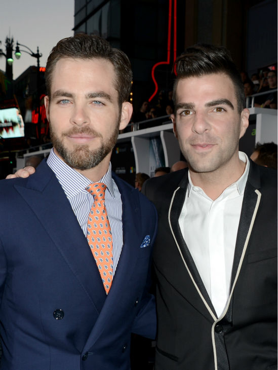 "<div class=""meta ""><span class=""caption-text "">Chris Pine (Kirk) and Zachary Quinto (Spock) attend the premiere of Paramount Pictures' 'Star Trek Into Darkness' at the Dolby Theatre in Hollywood, California on May 14, 2013.  (Kevin Winter / Getty Images for Paramount Pictures)</span></div>"