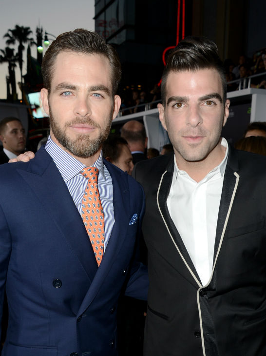Chris Pine &#40;Kirk&#41; and Zachary Quinto &#40;Spock&#41; attend the premiere of Paramount Pictures&#39; &#39;Star Trek Into Darkness&#39; at the Dolby Theatre in Hollywood, California on May 14, 2013.  <span class=meta>(Kevin Winter &#47; Getty Images for Paramount Pictures)</span>
