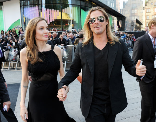 Cast member Brad Pitt and fiancee Angelina Jolie attend the world premiere of &#39;World War Z&#39; at the Empire Cinema Leicester Square in London on June 2, 2013. It marked her first public appearance since revealing in May that she had undergone a double mastectomy. <span class=meta>(Dave M. Benett &#47; WireImage for Paramount)</span>