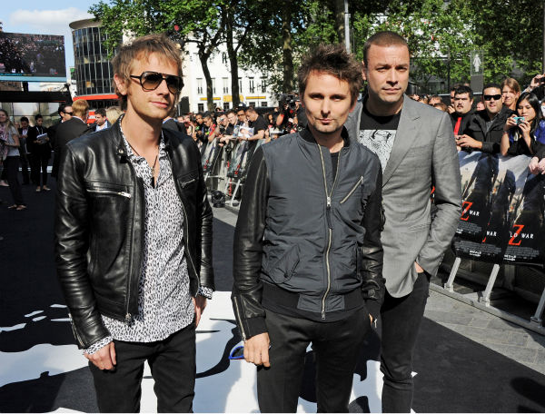 &#40;L-R&#41; Muse band members Dominic Howard, Matt Bellamy and Christopher Wolstenholme attend the world premiere of &#39;World War Z&#39; at the Empire Cinema Leicester Square in London on June 2, 2013. <span class=meta>(Dave M. Benett &#47; WireImage for Paramount)</span>