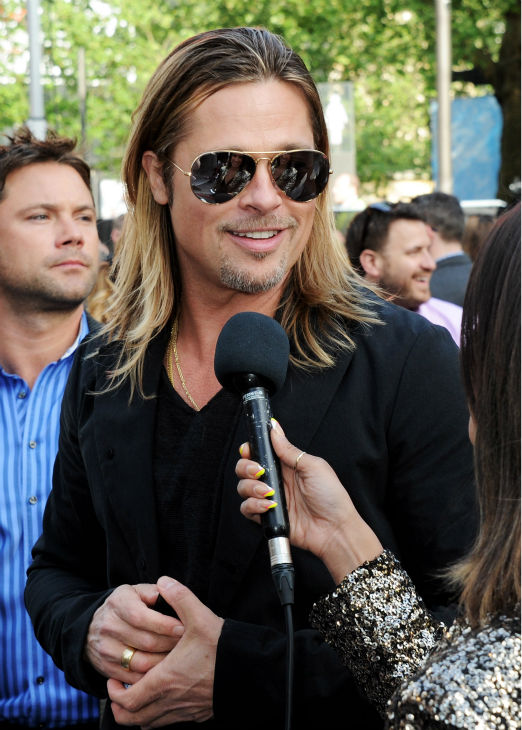 Cast member Brad Pitt attends the world premiere of &#39;World War Z&#39; at the Empire Cinema Leicester Square in London on June 2, 2013. <span class=meta>(Dave M. Benett &#47; WireImage for Paramount)</span>