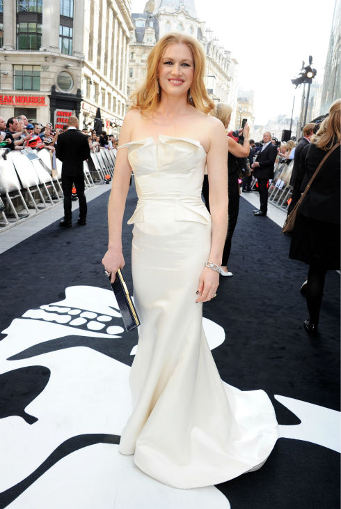 Cast member Mireille Enos attends the world premiere of 'World War Z' at the Empire Cinema Leicester Square in London on June 2, 2013.
