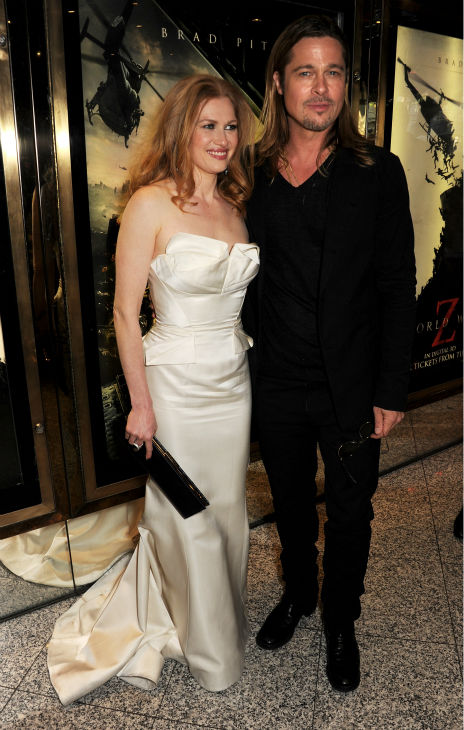 "<div class=""meta image-caption""><div class=""origin-logo origin-image ""><span></span></div><span class=""caption-text"">Cast members Mireille Enos and Brad Pitt attend the world premiere of 'World War Z' at the Empire Cinema Leicester Square in London on June 2, 2013. (Dave M. Benett / WireImage for Paramount)</span></div>"