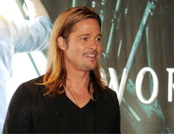 "<div class=""meta ""><span class=""caption-text "">Brad Pitt attends the world premiere of 'World War Z,' which stars fiance Brad Pitt, at the Empire Cinema Leicester Square in London on June 2, 2013. (Dave M. Benett / WireImage for Paramount)</span></div>"