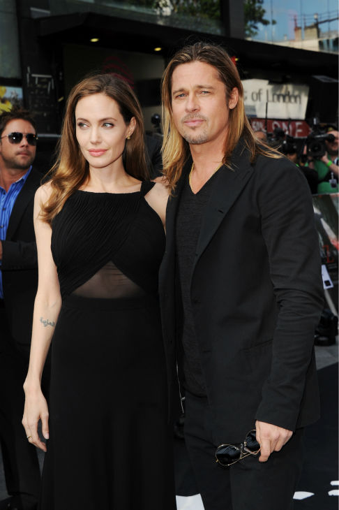 "<div class=""meta ""><span class=""caption-text "">Cast member Brad Pitt and fiancee Angelina Jolie attend the world premiere of 'World War Z' at the Empire Cinema Leicester Square in London on June 2, 2013. (Stuart C. Wilson / Getty Images for Paramount Pictures International)</span></div>"