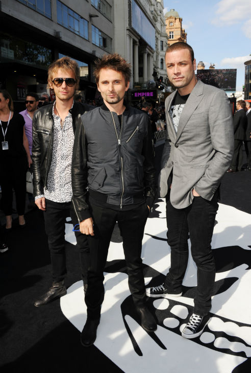 &#40;L-R&#41; Muse band members Dominic Howard, Matthew Bellamy and Chris Wolstenholme attend the world premiere of &#39;World War Z&#39; at the Empire Cinema Leicester Square in London on June 2, 2013. <span class=meta>(Stuart C. Wilson &#47; Getty Images for Paramount Pictures International)</span>