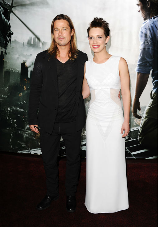 Cast members Brad Pitt and Daniella Kertesz attend the world premiere of &#39;World War Z&#39; at the Empire Cinema Leicester Square in London on June 2, 2013. <span class=meta>(Stuart C. Wilson &#47; Getty Images for Paramount Pictures International)</span>