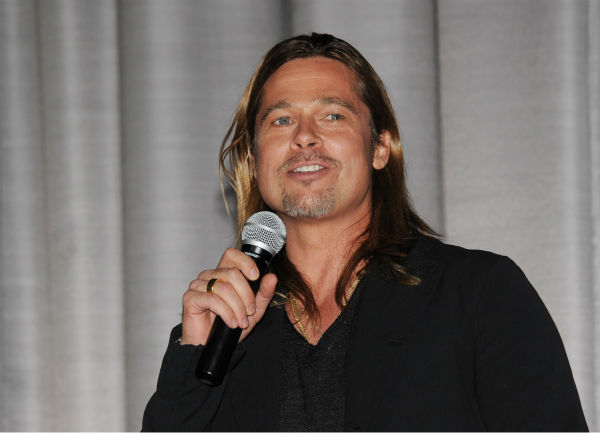 Cast member Brad Pitt apeaks at the world premiere of &#39;World War Z&#39; at the Empire Cinema Leicester Square in London on June 2, 2013. <span class=meta>(Stuart C. Wilson &#47; Getty Images for Paramount Pictures International)</span>