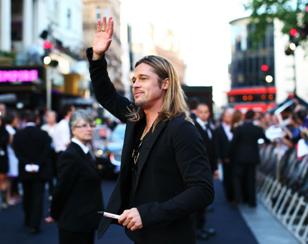 "<div class=""meta image-caption""><div class=""origin-logo origin-image ""><span></span></div><span class=""caption-text"">Brad Pitt attends the world premiere of 'World War Z,' which stars fiance Brad Pitt, at the Empire Cinema Leicester Square in London on June 2, 2013. (Lucian Capellaro / WireImage for Paramount)</span></div>"