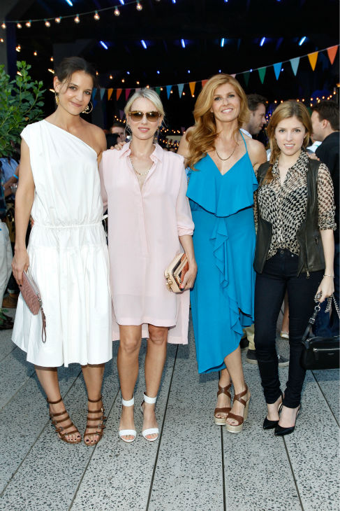 "<div class=""meta ""><span class=""caption-text "">Katie Holmes, Naomi Watts, Connie Britton ('Nashville') and Anna Kendrick attend Summer Party on The Highline, presented by Coach at High Line Park in New York City on June 11, 2013. (Brian Ach / Getty Images for COACH)</span></div>"
