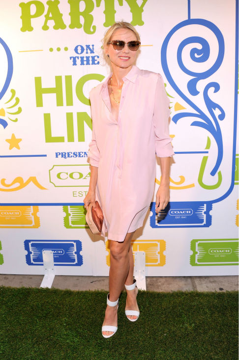 Naomi Watts attends Summer Party on The Highline, presented by Coach at High Line Park in New York City on June 11, 2013. Katie Holmes attends Summer Party on The Highline, presented by Coach at High Line Park in New York City on June 11, 2013. She is wearing a button-down See by Chloe shirtdress, paired with Bruno Magli sandals and a Coach Poppy Mirror bag. <span class=meta>(Stephen Lovekin &#47; Getty Images for COACH)</span>